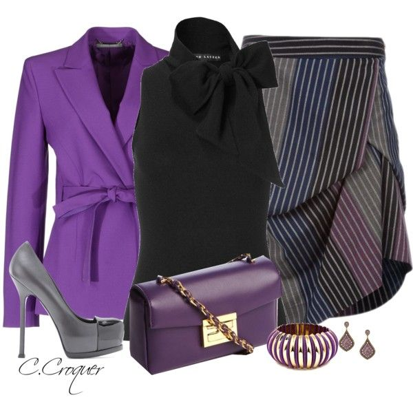 Draped Skirt, created by ccroquer on Polyvore