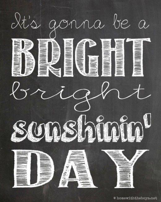Citaten Kunst Free : Free sunshinin day chalkboard printable babykamer