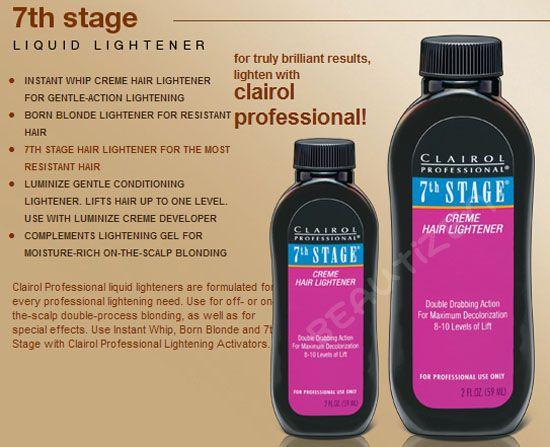 7th Stage Pack Of 6 Clairol Cream Hair Liquid Lightener 2 Oz Ebay
