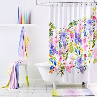 Wistera Shower Curtain With Images Floral Shower Curtains