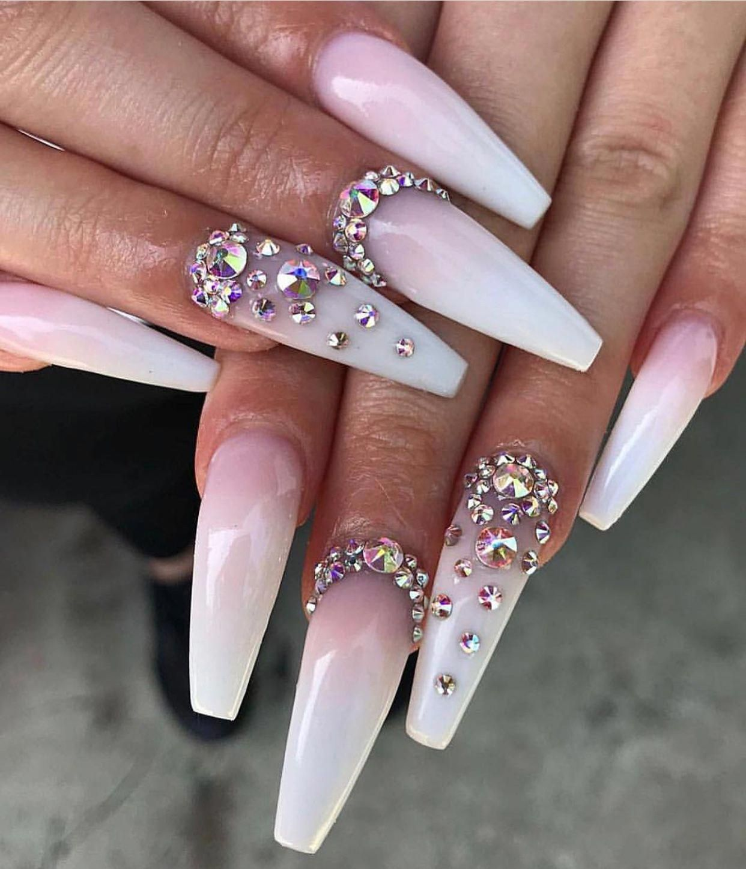 Cutenails Info Crystal Nails Boutique Nails Pink Holographic Nails