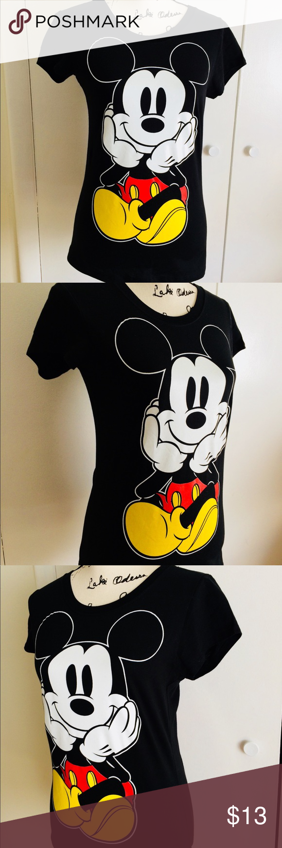 Without Shirt Tags Mouse New Disney And Mickey Juniors Back Front T A5jR4L