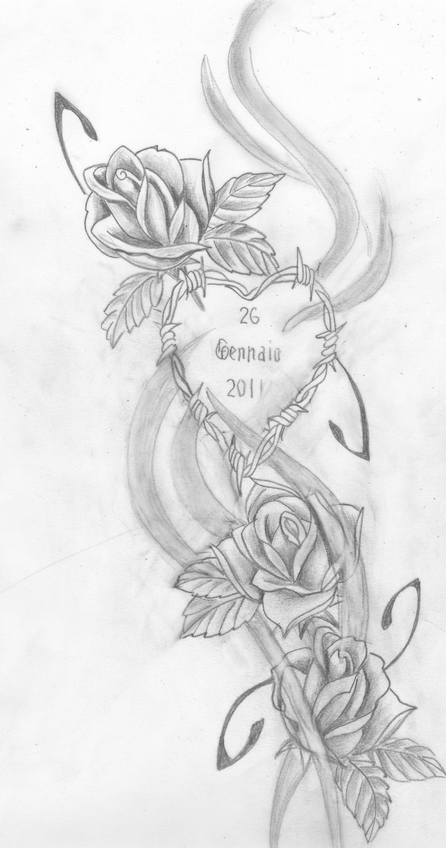 Bozza Tattoo Rose Roses Drawing Rose Tattoos Family Tattoo Designs