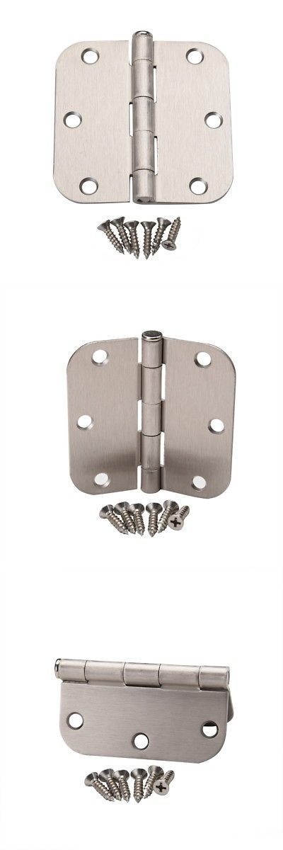 Door Hinges 66739 12 Pcs Satin Nickel Interior Door Hinge 3 5 X 3 5 3 1 2 5 8 Radius Corner Buy It Now Only Steel Doors Interior Door Hinges Door Hinges