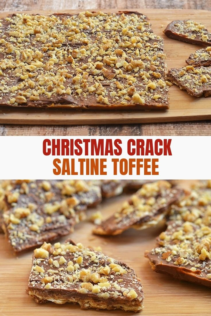 Saltine Cracker Toffee A.K.A. Christmas Crack - Onion Rings & Things #holidaytreats