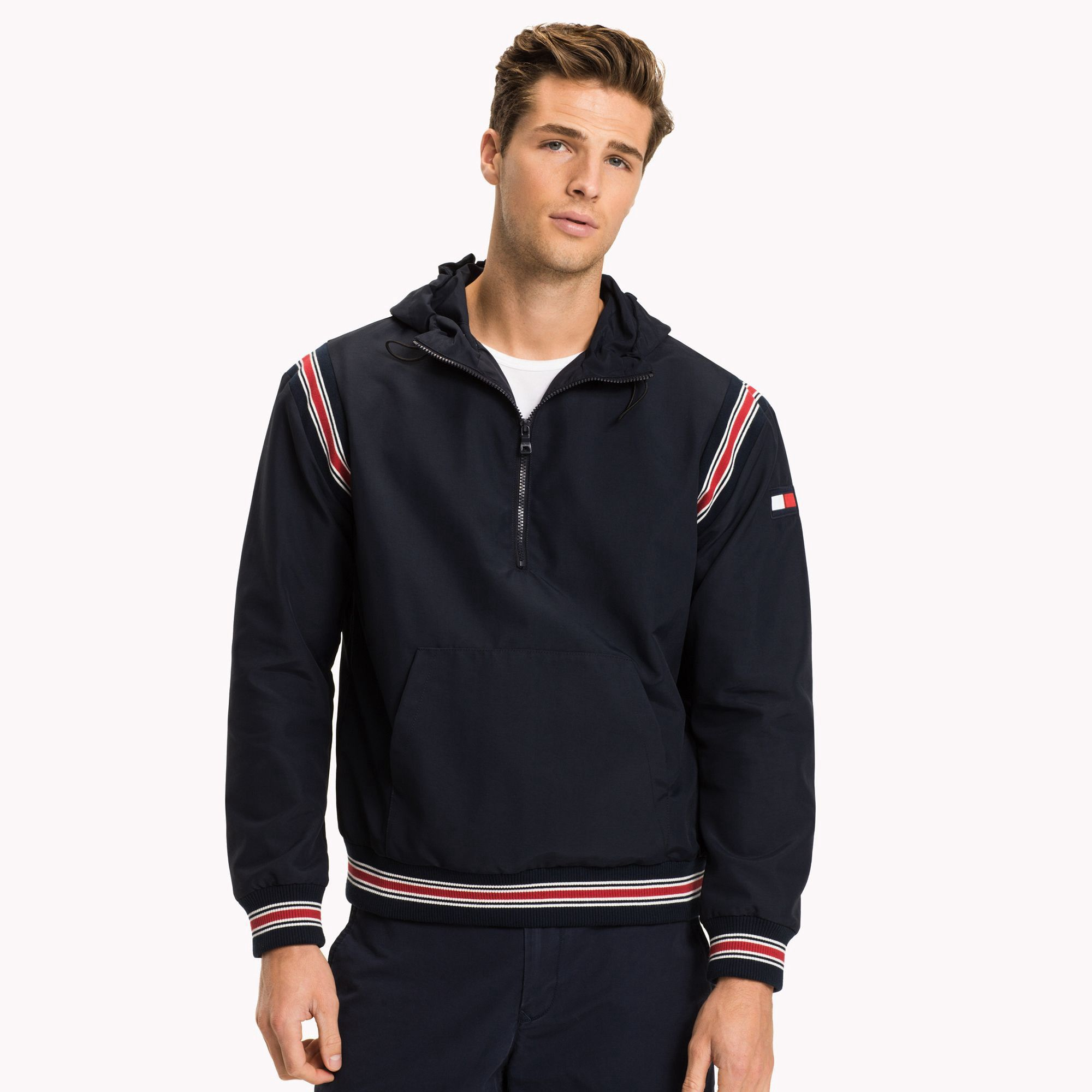 Tommy hilfiger hooded windbreaker xs products pinterest