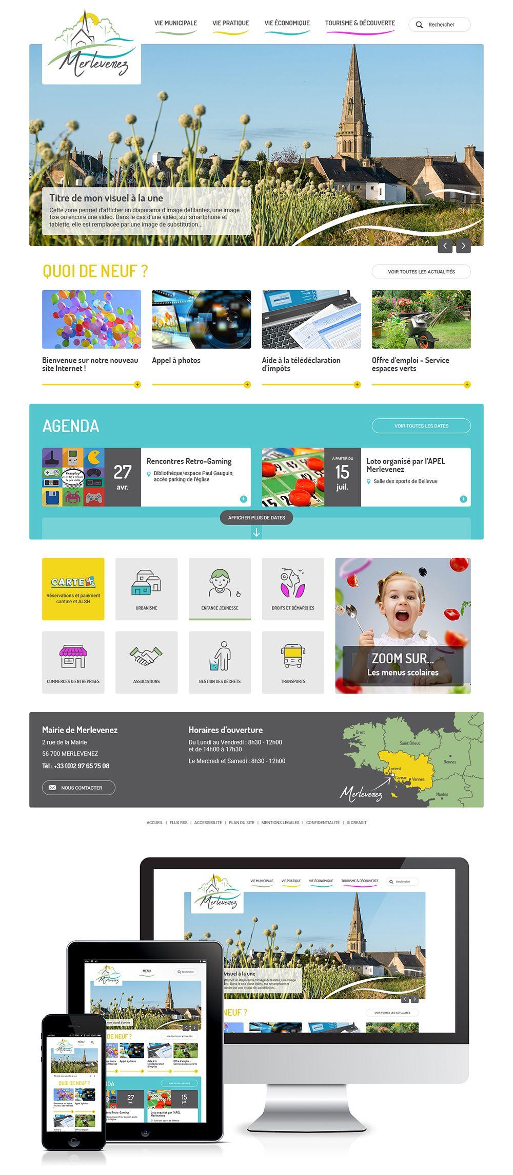 Createur De Site Internet création webdesign du site internet de la mairie de