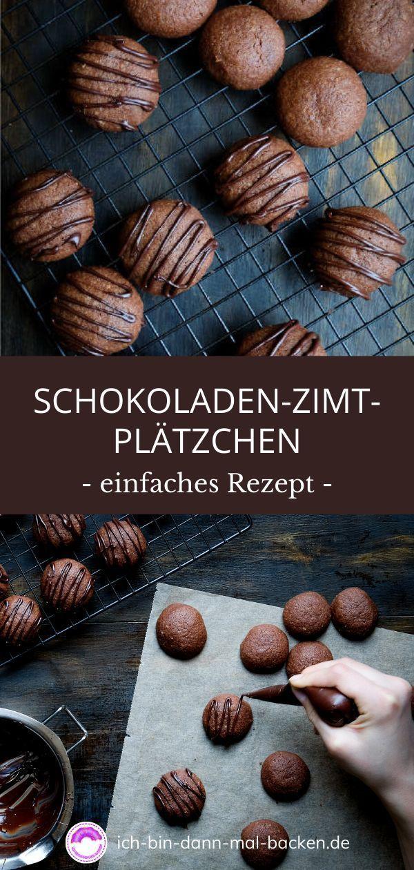 Schokoladen-Zimt-Plätzchen - ICH BIN DANN MAL BACKEN