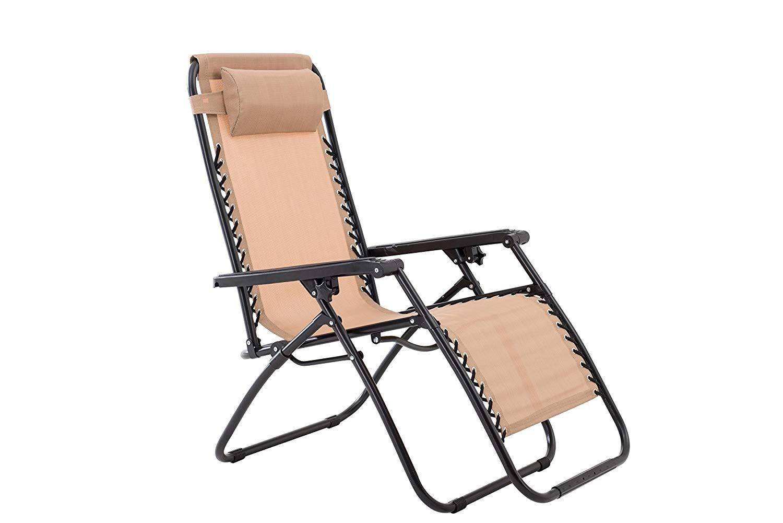 Zero Gravity Chair-Beige | Zero gravity chair, Zero ...