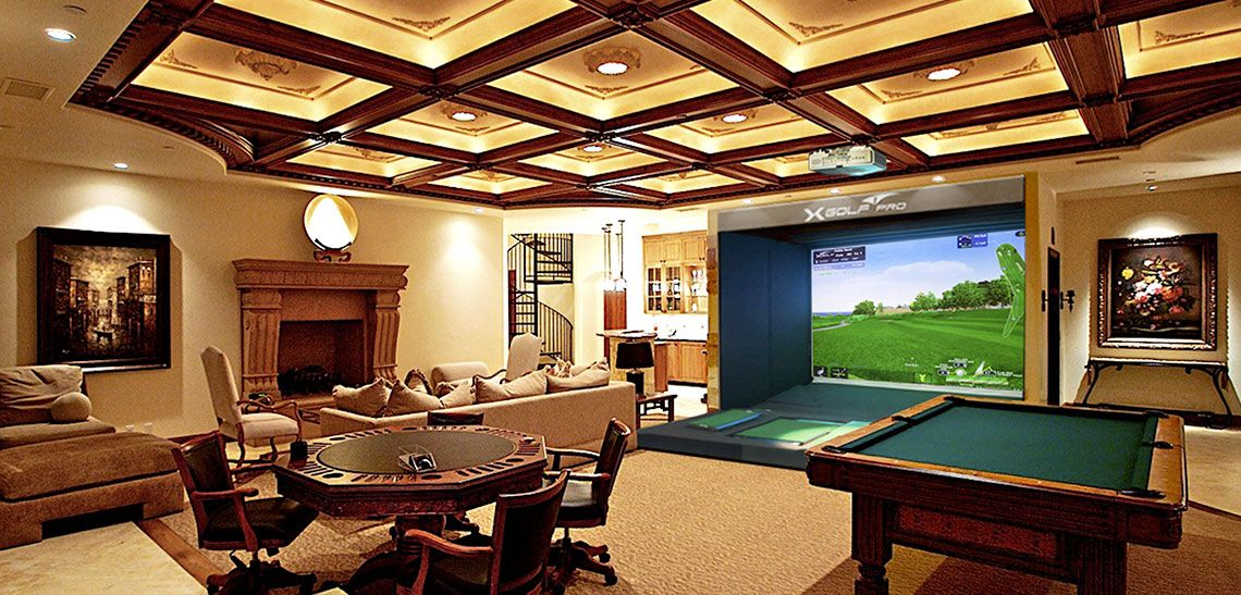 Indoor Golf Simulator | Dream House | Pinterest | Golf Simulators, Golf And  Golf Room