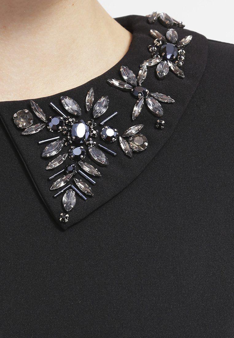 Young Couture By Barbara Schwarzer Vestito Elegante Black Zalando It Moletom Bordado Bordado Roupas Bordadas
