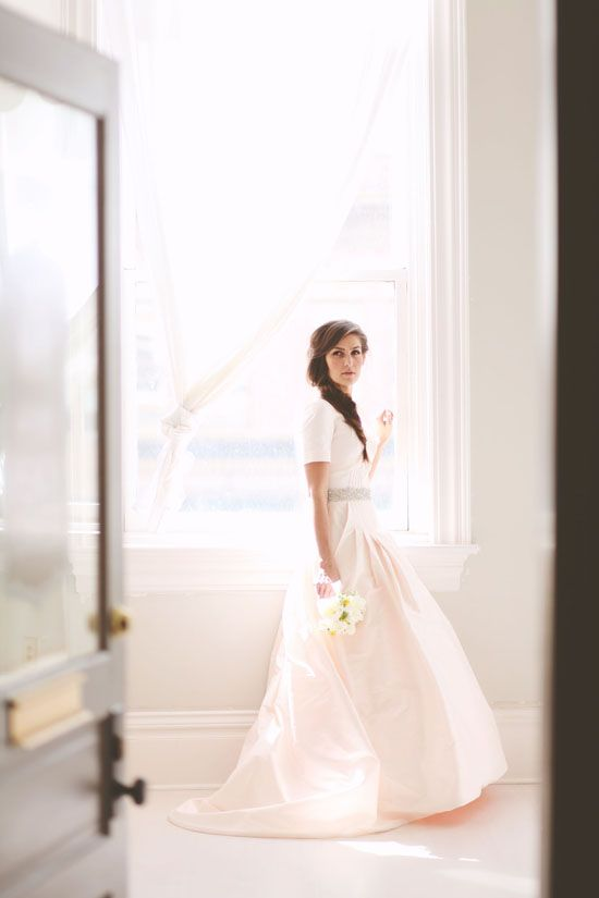 A Blushing Bride and a Perfect Pink Dress: Utah Bridal Session by ...