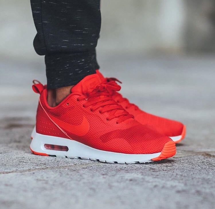 billig All new 2016 University Red Nike Air Max Tavas via