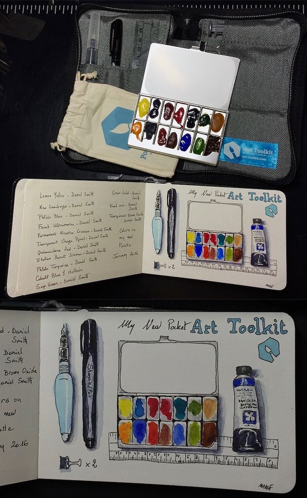 My New Pocket Art Toolkit I Love This Palette Filled With