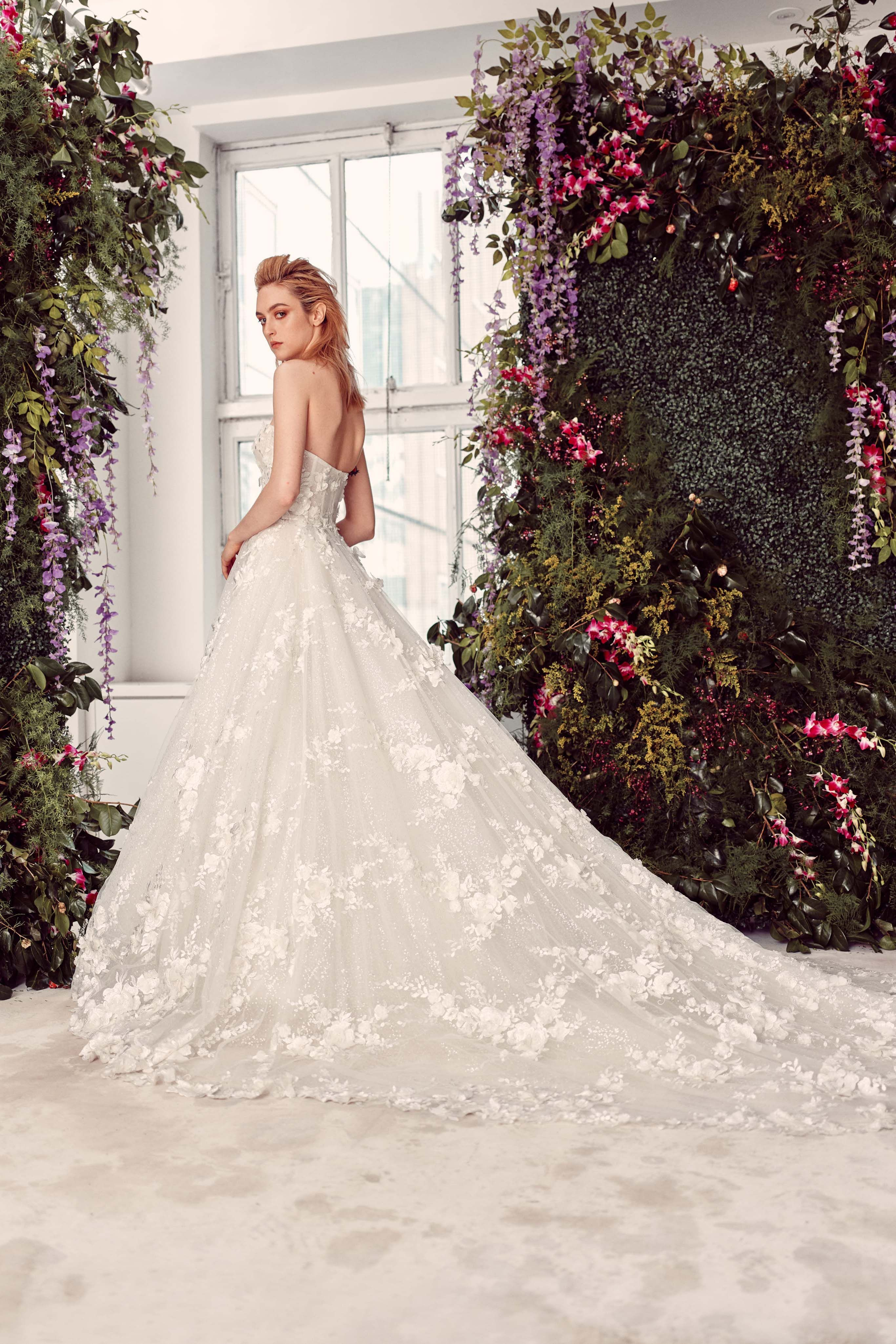 Karter Rivini 2019 Corset Lace Ballgown With Liquid Shimmer
