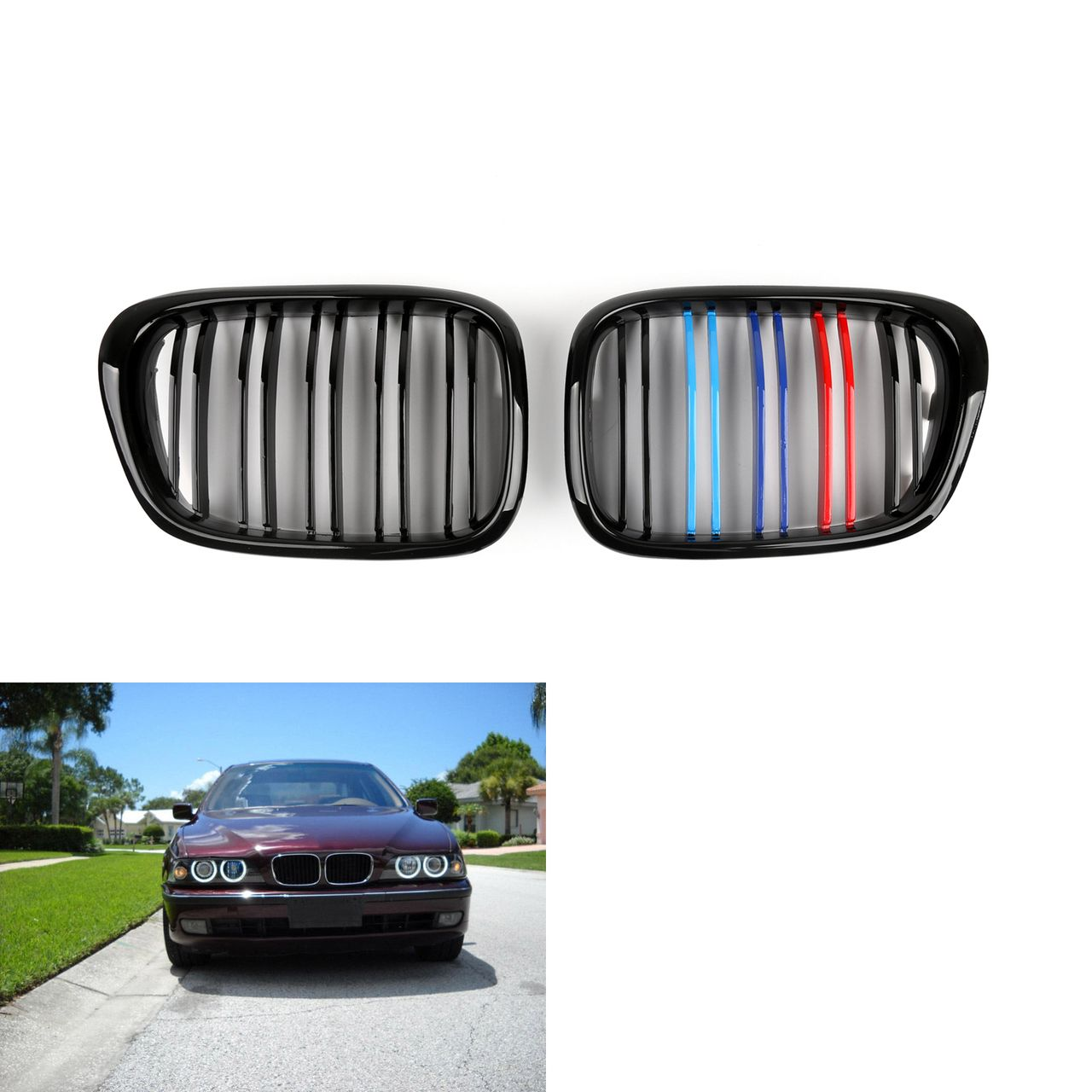 Mad Hornets - Kidney Grille Grill M Color BMW 5 Series E39 1996-2004 ...
