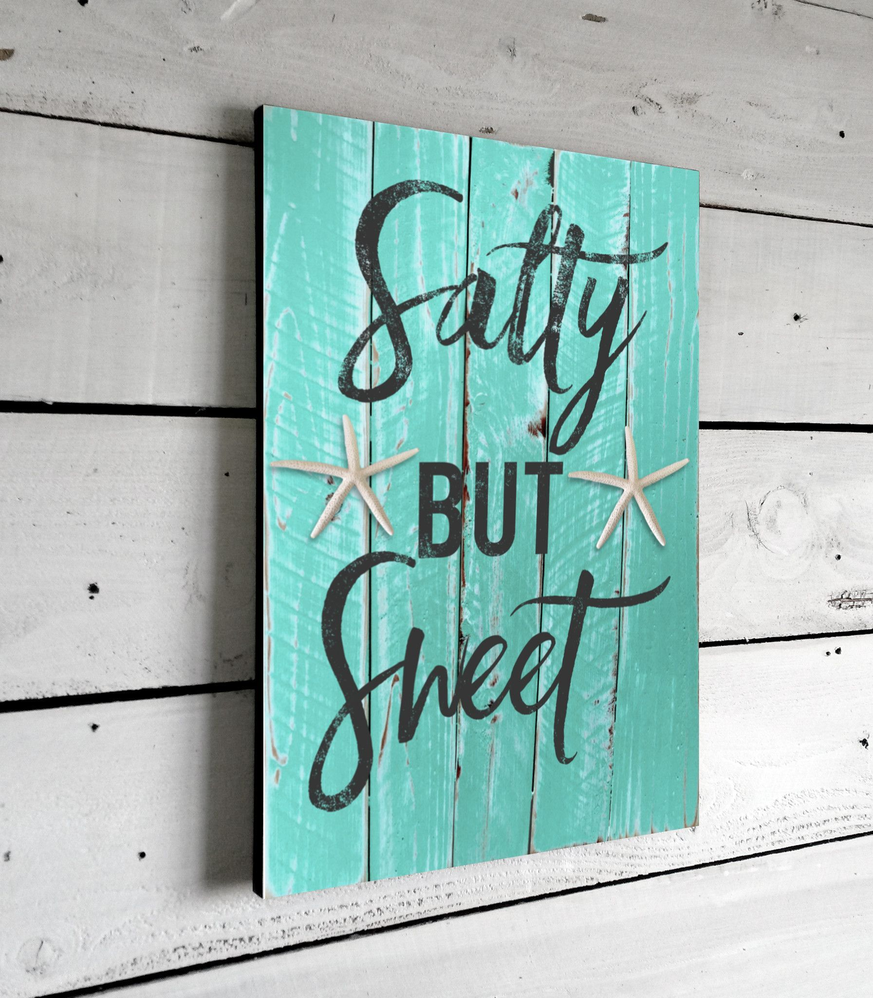 Salty But Sweet, Printed Beach Sign on Wood, 11x16 | Beachy Keen ...