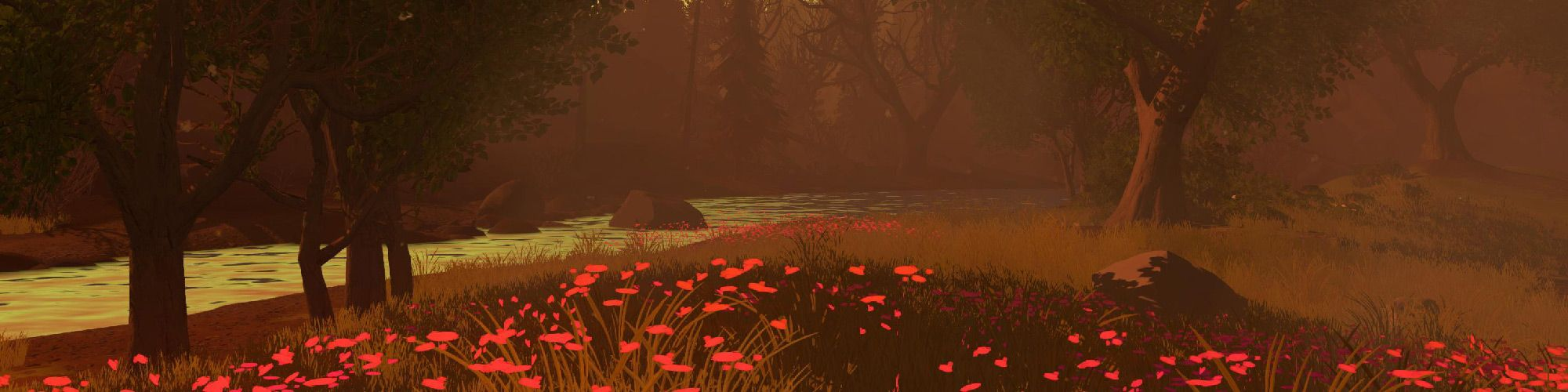 Header Red Firewatch Anime Background Adventure Video Game