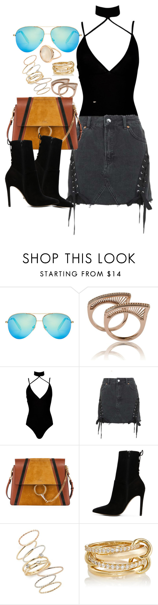 """""""Chloe x Topshop"""" by muddychip-797 ❤ liked on Polyvore featuring Victoria Beckham, Boohoo, Topshop, Chloé, ALDO, BP., SPINELLI KILCOLLIN, Ginette NY, victoriabeckham and chloe"""