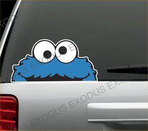 Cookie Monster Peeping Car Sticker Bombing Decal Vw Jdm Drift Car