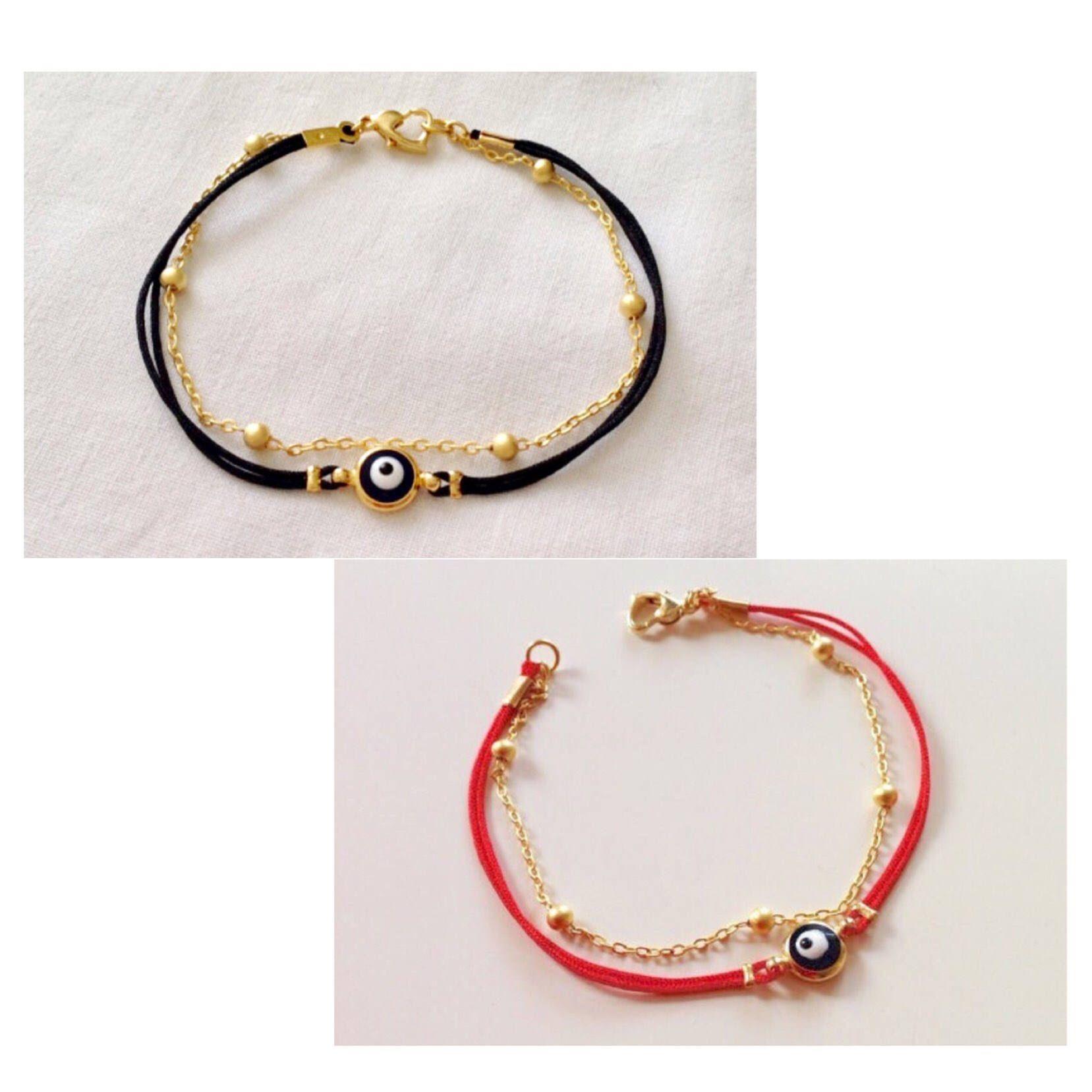 String Evil Eye Armbånd,Red String Evil Eye Perle Armbånd,Onde Øjne Smykker,Søde Armbånd, Lucky Charm,Tyrkisk Evil Eye Amulet Bracelelet