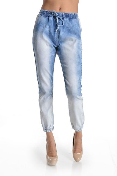 Hott Denim Bleach Blast Jogger Pants! Plus Size! #UASpringSummerCollection2015 #Jogger