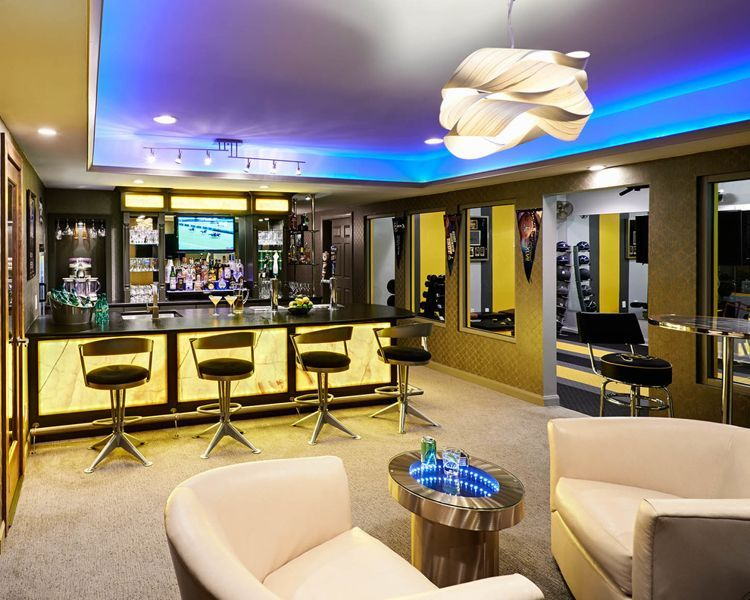 34 Awesome Basement Bar Ideas And How To Make It With Low Bugdet Modern Basement Bars For Home Basement Design