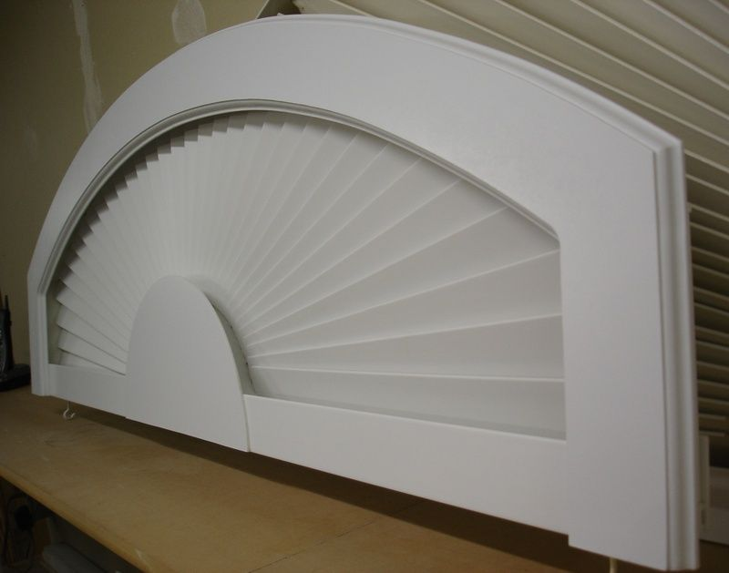 Arched Window Treatment Products Eyebrow Arch In Basswood