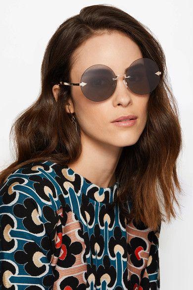 cc79b7943629 Karen Walker - Disco Circus Round-frame Gold-tone Sunglasses - Black ...