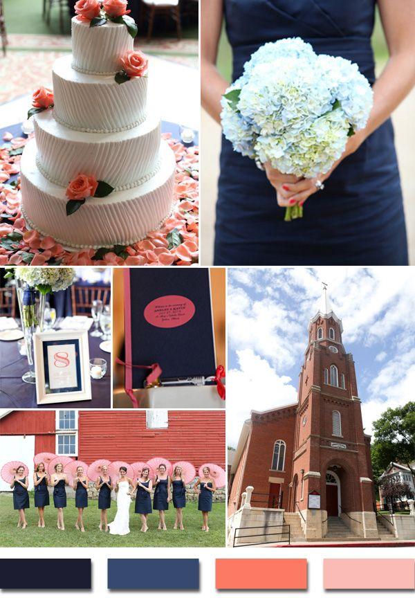 Popular Summer Beach Wedding Color Palettes 2014 Trends