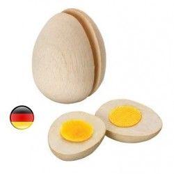 Oeuf en bois à couper pour la dinette