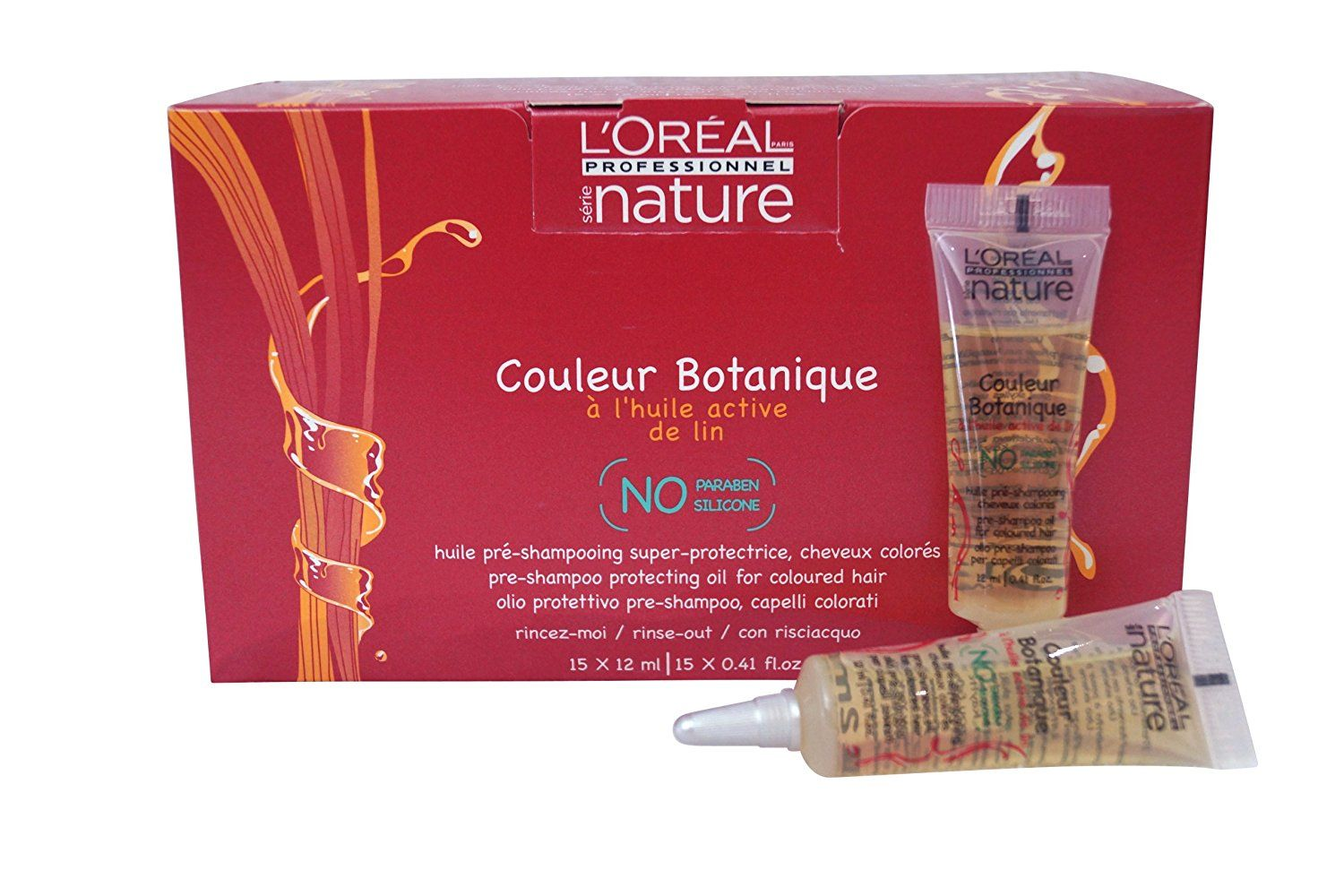 L'Oreal Nature Couleur Botanique Pre-Shampoo Protecting Oil 15 x 12 ml .41 oz >>> This is an Amazon Affiliate link. Be sure to check out this awesome product.
