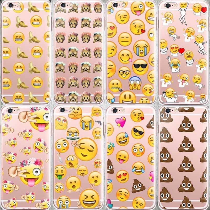 Fashion Lovely Funny Emoji Case For Iphone 6 6s Silicone Cell Phone Cases Cover Cas De Telephone Etuis Pour Ipod Iphone 6