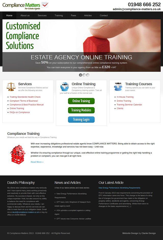 Compliance Matters - A new WordPress website allowing conten