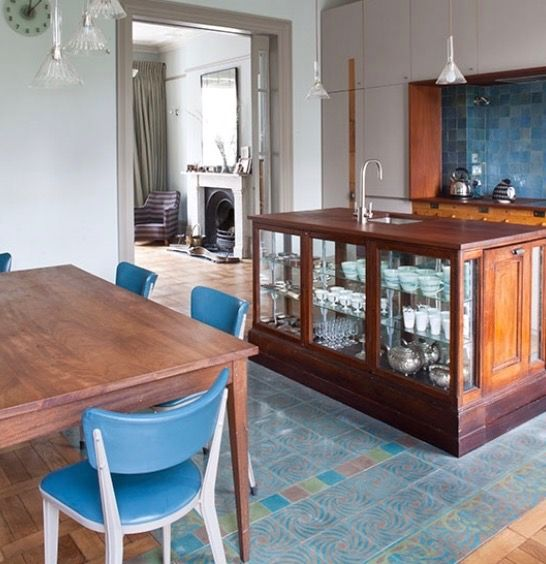 Kitchen with haberdashery or apothecary cabinet