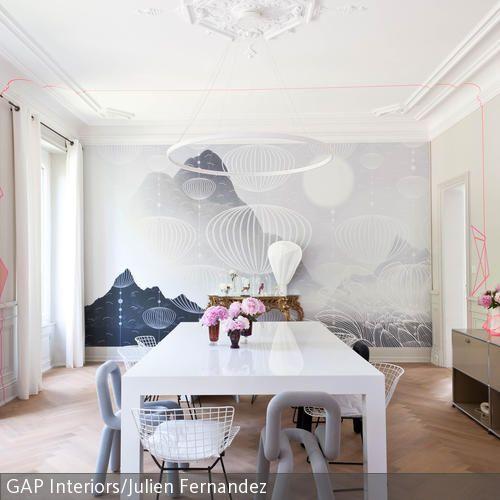 Heißluftballon-Tapete | Innenarchitektur, Wohnen und Dekor