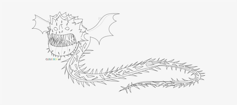 How To Train Your Dragon Boneknapper Coloring Pages For In