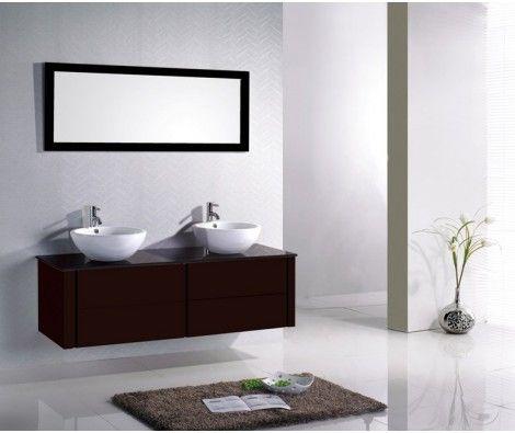Meuble Salle De Bain  Double Vasque  Miroir BDb    Mr
