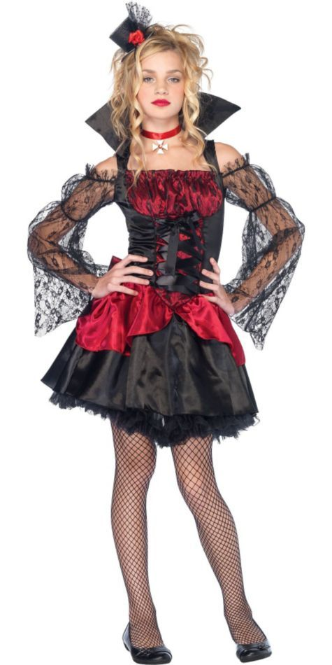 Victorian V&ire Costume for Teen Girls - Halloween City  sc 1 st  Pinterest & Victorian Vampire Costume for Teen Girls - Halloween City | dresses ...