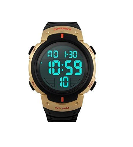 Mastop LED Sports Military Mens Wristwatches 50m Waterproof Digital Casual WatchGolden ** Check this awesome product by going to the link at the image.Note:It is affiliate link to Amazon.