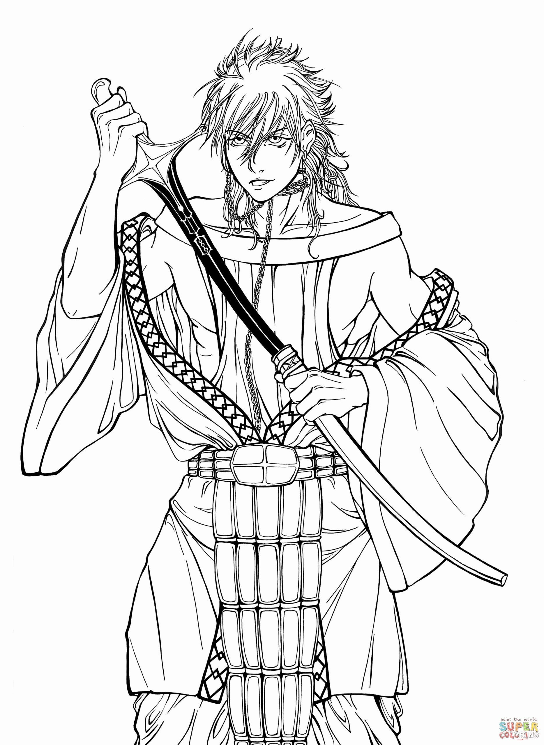 Magi Anime Coloring Pages Printable New Sharrkan From Manga Anime Series Magi The Labyrinth Of Magic Kingdom Coloring Pages Anime [ 2560 x 1868 Pixel ]