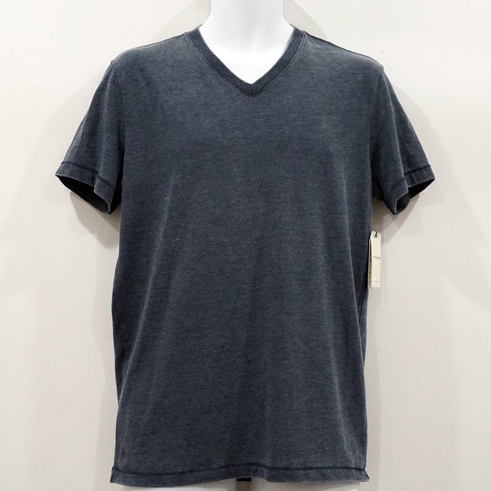 Lucky Brand Men/'s XXL NWT$29 Gray Short Sleeve Venice Burnout Notch Henley Tee