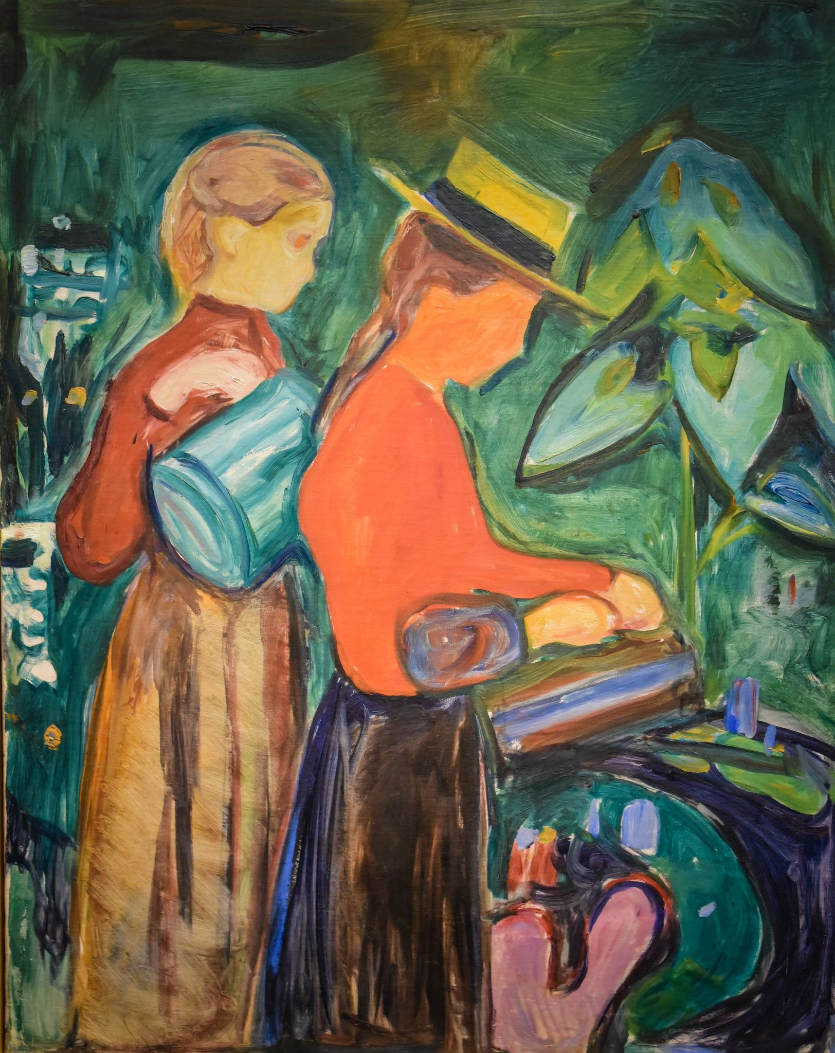 https://flic.kr/p/UW1Shp | Edvard Munch - Girls Watering Flowers, 1904 at Munchmuseet Oslo Norway | Edvard Munch - Girls Watering Flowers, 1904 at Munchmuseet Oslo Norway