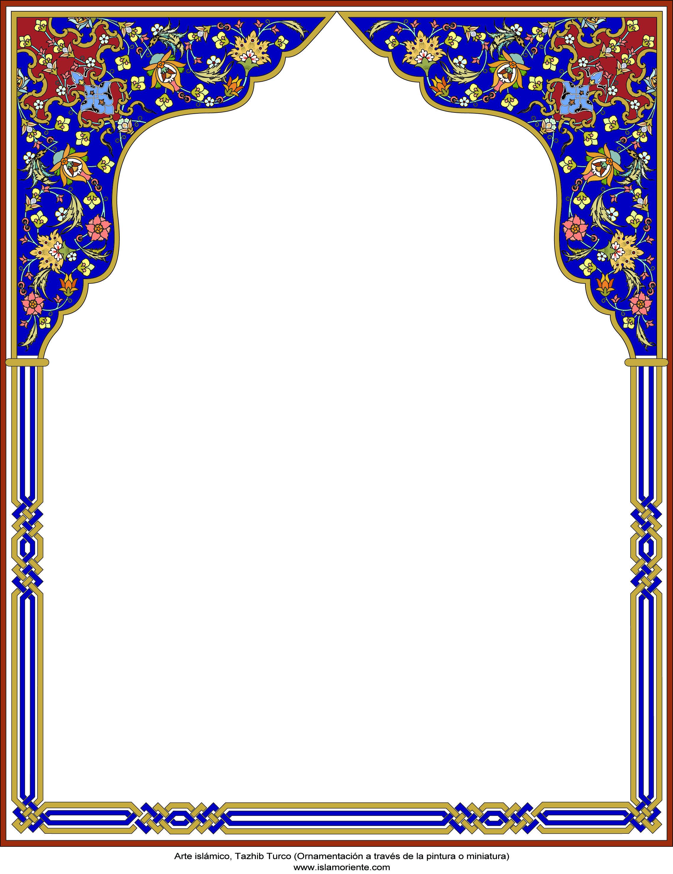 Arte islámico – Tazhib Turco - en cuadro - 18 | Galería de Arte ...