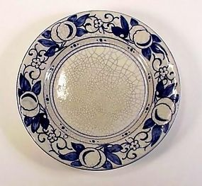 "Nice 6"" plate in the ""Horse Chestnut"" pattern by Dedham Pottery"