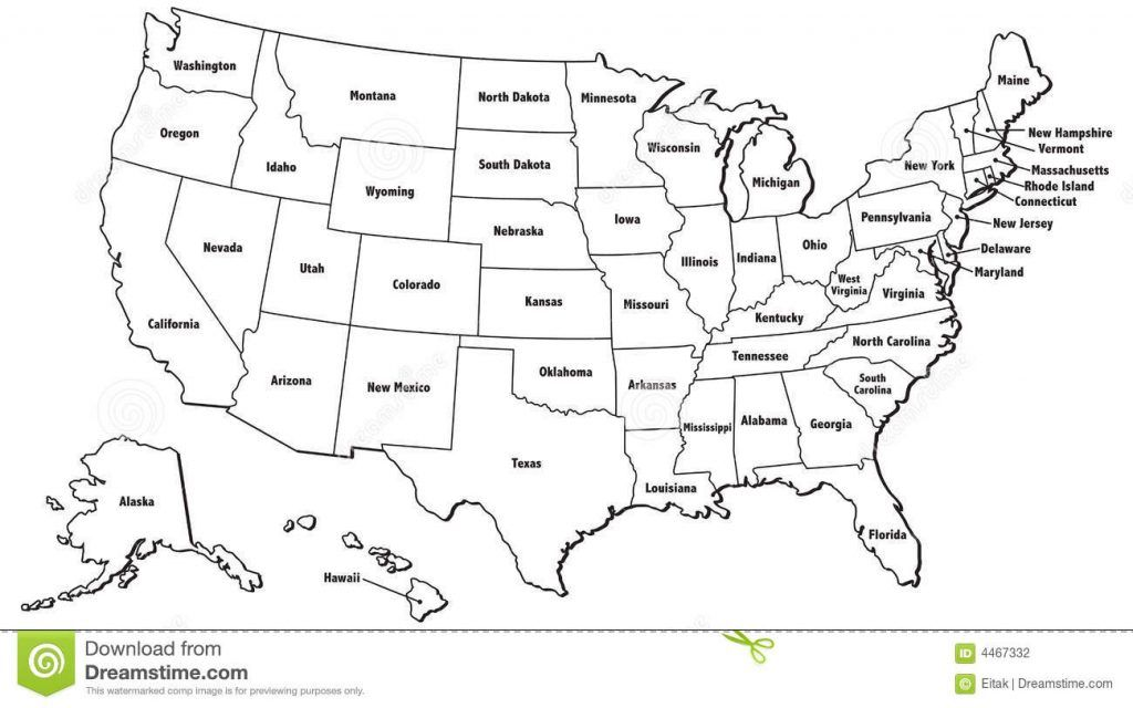 United States Map No Names United State Outline United States Map With States Printable Us Map With States United States Map United States Outline Map Outline