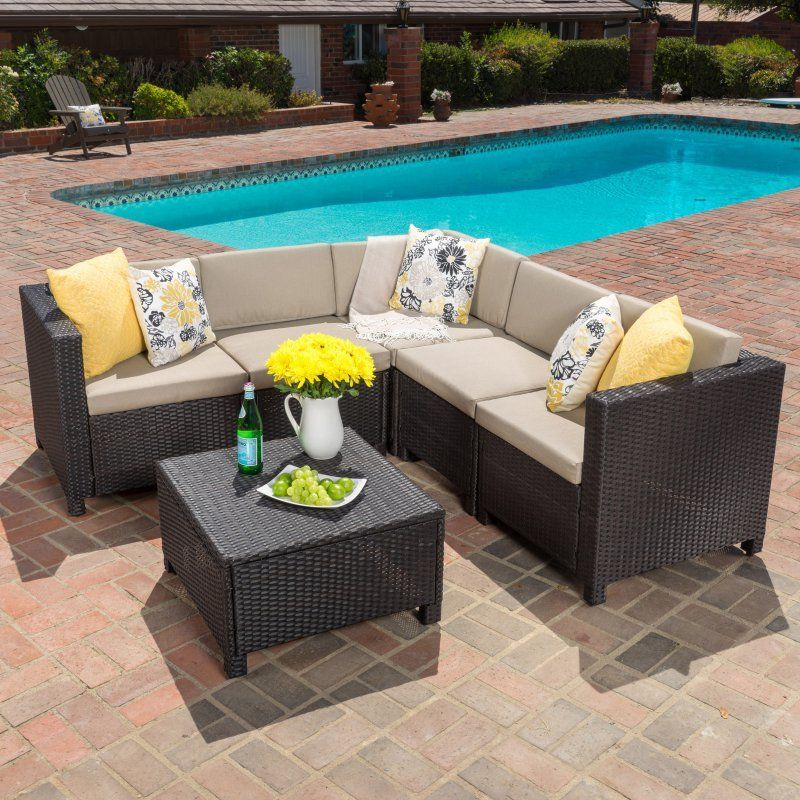 Best Selling Home Chia Patio Wicker Sectional Sofa Set   299040