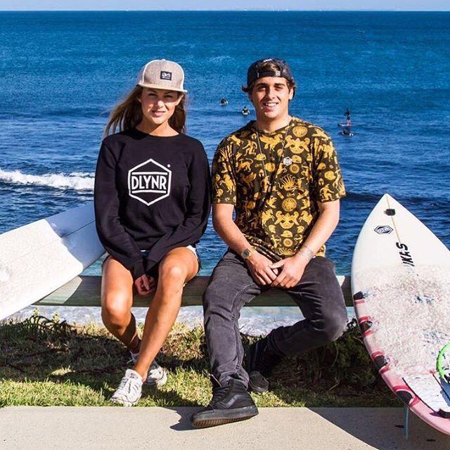 @cavaiola.kiteboarding and @harrietconington living the Dream in Australia 🇦🇺🏄🏻🌴 #dollynoire #dlynr #staybrave