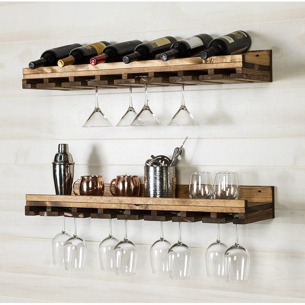 Bernardo Luxe Wall Mounted Wine Glass Rack In 2020 Wine Rack Wall Wine Glass Shelf
