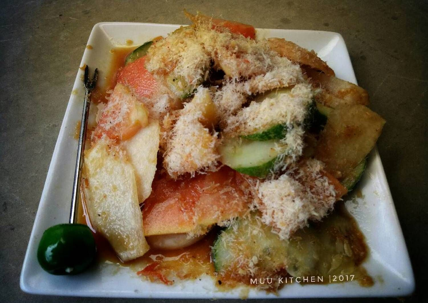 Resep Rujak Ebi Singkawang Oleh Muu Kitchen S Resep Makanan Resep Udang